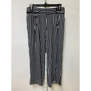 Robert Louis Women's Black White Striped Pants